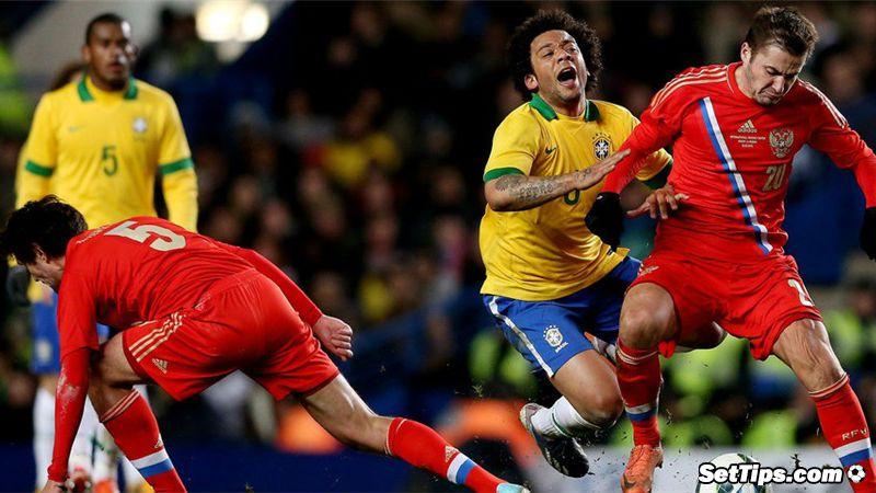 В столицеРФ начался товарищеский матч Российская Федерация - Бразилия